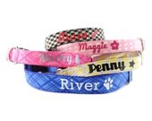 Personalized Dog Collar - Monogrammed Dog Collar - Dog Collar with Name and Phone Number - Personalized Dog Leash - Name Dog Collar