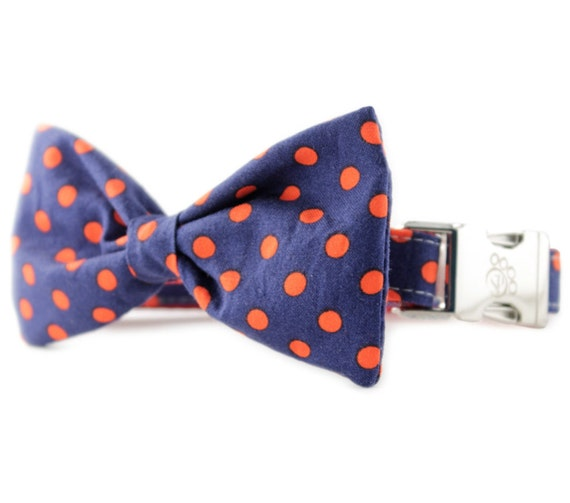 navy bow tie collar navy and dot bow tie collar