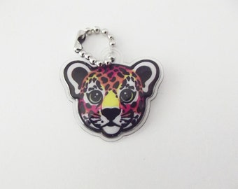 Lisa Frank Hunter the Leopard Cub Charm Pendant