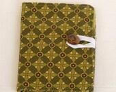 Clearance Tea Bag Wallet--Green Diamonds