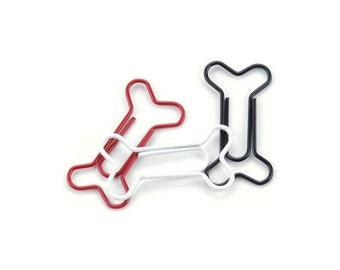 Dog Bone Paper Clips (15/Pkg) SALE Painted Metal Dog Bone Paper Clips (85026)