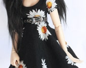 MSD BJD clothes Sunflower skater dress by MonstroDesigns