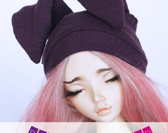 MSD Minifee Doll clothes  BJD hat Pick Your Color Bunny beanie MonstroDesigns