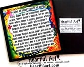 PRAYER Of Saint Francis Inspirational Quote Magnet Lord Make Me An Instrument Motivational Friend Gift Heartful Art by Raphaella Vaisseau