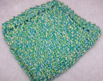 NEW Knitted Dish Cloth - Emerald Energy Twist