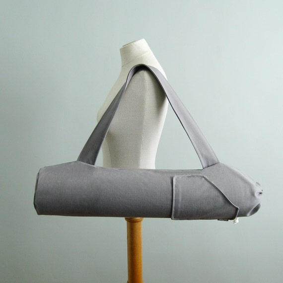 Yoga Mat Bag. Yoga Gifts. Grey Yoga Bag. Yoga Mat Holder. Yoga Tote Bag. Womens Mens Yoga Bag. Yogi Gifts under 50. Yoga Mat Bag with Pocket