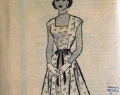 Vintage 1950s Dress Pattern Marian Martin 9311 Bust 34 Factory Folded Rockabilly Dress Pattern