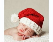 Newborn Santa Hat, Santa Hat, Baby Santa Hat, Baby Christmas Hat, Crochet Santa Hat, Infant Christmas Outfit, Santa Claus, Infant Santa Hat