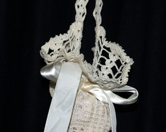 Vintage Crocheted Summer Purse Bridal Bag