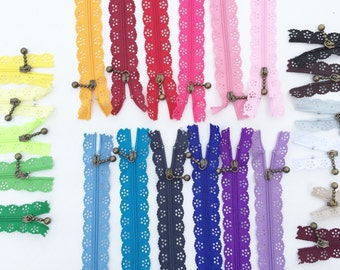Lace Zippers  23 Available Colors