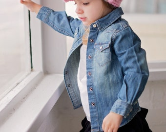 Toddler Girl Hat 1T to 2T Pink Toddler Hat Toddler Girl Clothes Pink Blossom Light Pink Winter Hat Crochet Hat Knit Silver Buckle Beanie