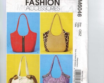 Craft Sewing Pattern McCalls M6046 6046 Purse Handbag Bag Pockets UNCUT  99