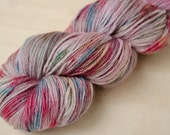 Hand Dyed Sock Yarn - Merino & Silk - Fingering Weight - Gleam - Cupcake