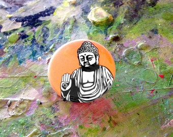 Fearless Buddha pin