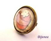 Cupcake ring - Cupcake cake ring - Cupcake brown ring - Cupcake ring - Cupcake jewelry r806