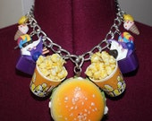 Crazy junk food and ice cream dessert candy Couture Kawaii choker statement necklace jewellery