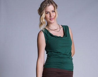 Bamboo and Organic Cotton Marina Cowl Tank