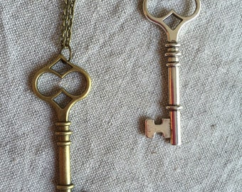Steampunk Key Necklace  Skeleton Key, Steampunk Necklace, Steampunk Jewelry,