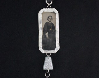 Found Object Mobile - Repurposed - Vintage Tintype Photo