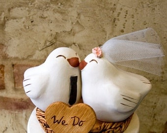 Love Bird Topper with Tie and Veil