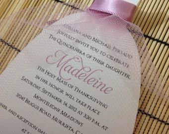 Quinceanera invitations - Sweet Sixteen or Quinceanera invitations