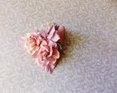 White Peppermint Blush Pink Lilac Roses Lilies Handmade Millinery Corsage baby kids hair bow headband ooak clip supply Vintage Style Flowers