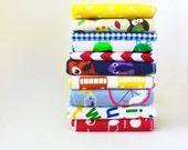 Cloth Napkins - Kids Napkins - Neutral Lunch Box Napkins - Childrens Cloth Napkins - School Lunch Napkins - Boy Girl Teacher Gift - 9 x 10