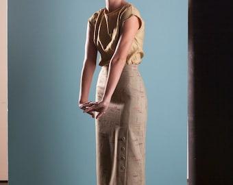 SALE - Pencil Skirt - 'Poughkeepsie' Skirt in Flecked Wool