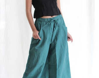 Take a walk long pants...Chambray linen available in all colours   (one size)