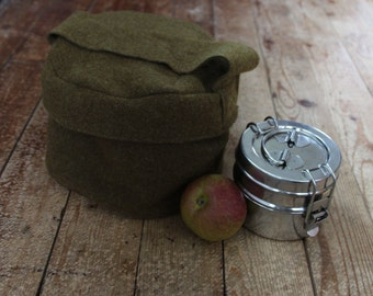 Wool Lunch Sack - Insulating Snack Bag - Ready to Ship Lunch Pouch