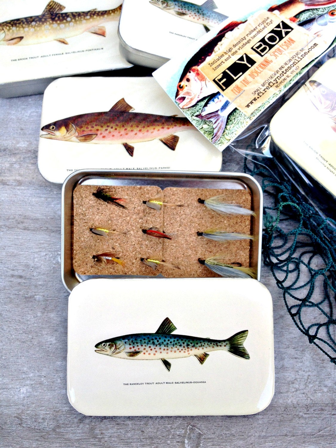 Fly fishing box with hand tied fly fly box for The fishing fly box