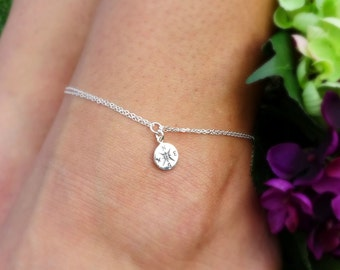 Compass charm Anklet, Graduation gift,  Ankle bracelet, Bridesmaid gifts, college graduation gift for her, Graduate gift, gifts for grads