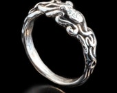 Octopus Ring Silver Tentacle Ring Tentacle Twist Octopus Ring Octopus Jewelry Tentacle Jewelry Ocean Ring Steampunk Jewelry Ocean Jewelry