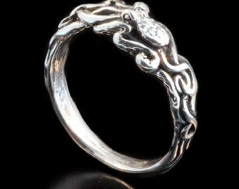 Silver Octopus Ring Tentacle Ring Tentacle Twist Octopus Ring Octopus Jewelry Tentacle Jewelry Ocean Ring Steampunk Jewelry Ocean Jewelry