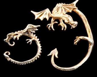 EAR CUFF SPECIAL Dragon Ear Cuff Dragon Ear Wrap Game of Thrones Inspired Dragon Jewelry Dragon Earring Bronze free bronze ear cuff option