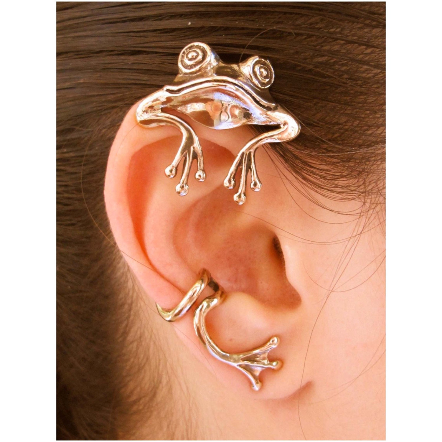 Frog Ear Wrap Frog Ear Cuff Bronze Curious Frog Ear Wrap