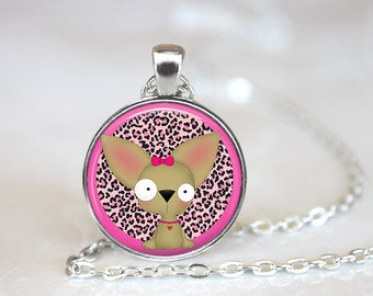 """Chihuahua Changeable Magnetic Pendant 1"""""""