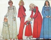 McCall's 5317 - Ladies Nightgowns, Robes, Housecoats, Pajamas, PJs, Vest Bolero, Etc. - Great for Cold Weather, Christmas - Size Medium