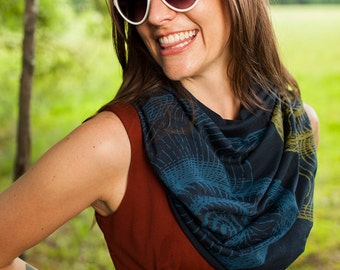 infinity scarf, soft organic cotton scarf, cotton and bamboo jersey scarf