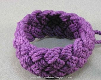 purple rope bracelet handmade cotton bracelet arm band turks head knot sailor rope bracelet wide weave handmade cotton bracelet 639