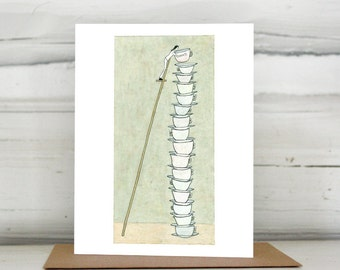 Days Stack Up greeting card