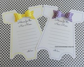KIT Baby Shower Onesie Game-Yellow-Purple-Advice For the New Mom  Party Game