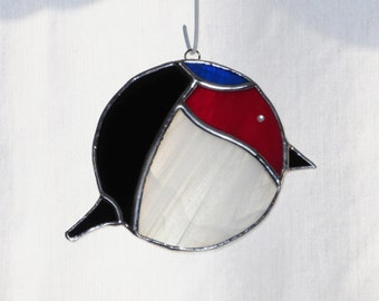 Chibi Welcome Swallow Bird Stained Glass Suncatcher - FREE Shipping in USA