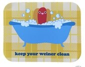 Keep Your Weiner Clean Blank Greeting Card