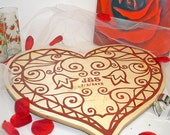 Romantic Heart Shaped Wedding Guest Book Puzzle with Frame Custom Puzzle Personalized Guest Book Alternative Unique Wedding Guestbook Ideas