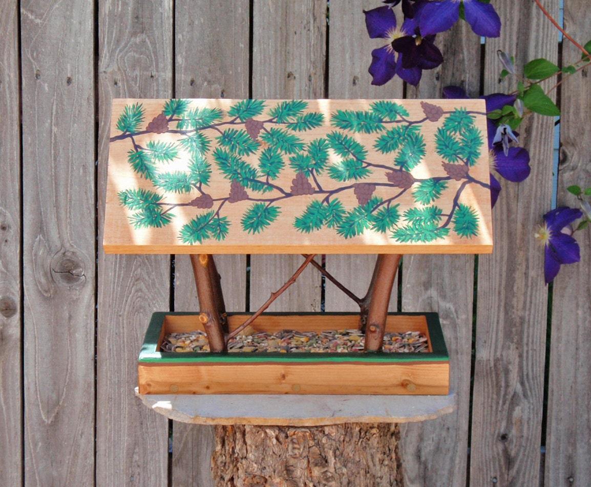 Persnickety bird feeder handmade open air bird feeder for Persnickety home designs