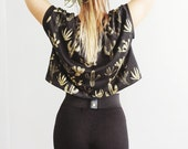 Golden Cactus - Box Crop Top - American milled fabric - by Simka Sol®