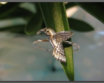 Humming Bird Ring Sterling