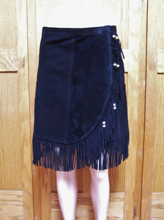 Leather Suede Skirt 117
