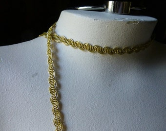 3 yds. Gold Passementerie for Bridal, Costumes, Crafts and Decorating, Scrapbooking, Cardmaking GL 12
